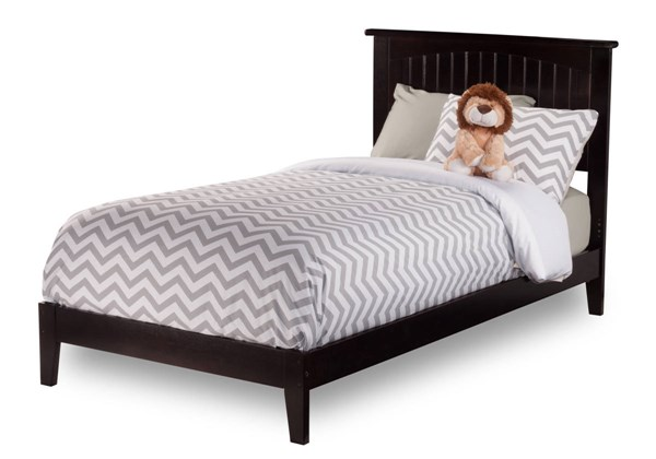 Nantucket Classic Wood Open Foot Rail Platform Beds AR82-BEDS