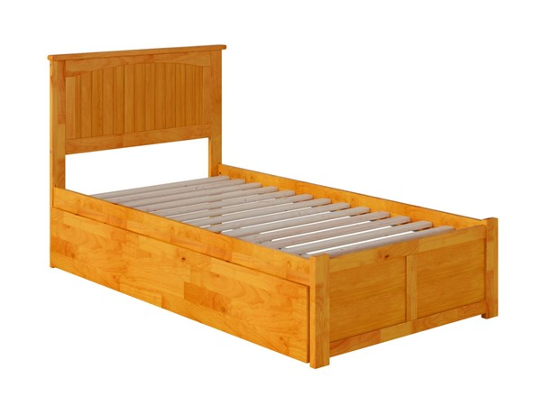 Atlantic Furniture Nantucket Caramel Twin XL Bed with Footboard and Twin XL Trundle AR8212047