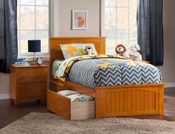 Atlantic Furniture Nantucket Caramel Latte Two Urban Drawers Beds AR82-VAR4