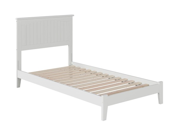 Atlantic Furniture Nantucket White Twin Platform Bed with Open Foot Board AR8221002