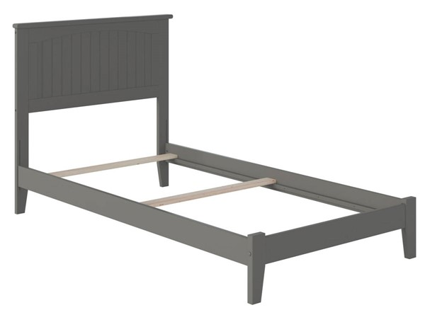 Atlantic Furniture Nantucket Grey Traditional Twin Platform Bed AR8221039