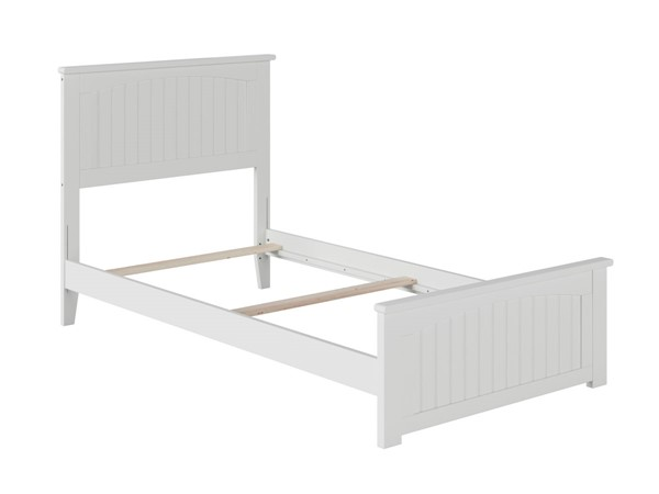 Atlantic Furniture Nantucket White Matching Foot Board Twin Panel Bed AR8226032