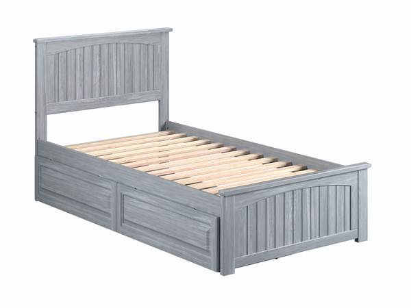 Atlantic Furniture Nantucket Beds with Matching Footboard and Raised Panel Drawers AR822613-DWR-BEDS-VAR