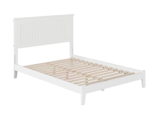 Atlantic Furniture Nantucket White Full Platform Bed with Open Foot Board AR8231002