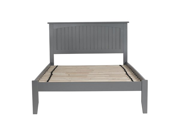 Atlantic Furniture Nantucket Grey Full Platform Bed with Open Footboard AR8231009