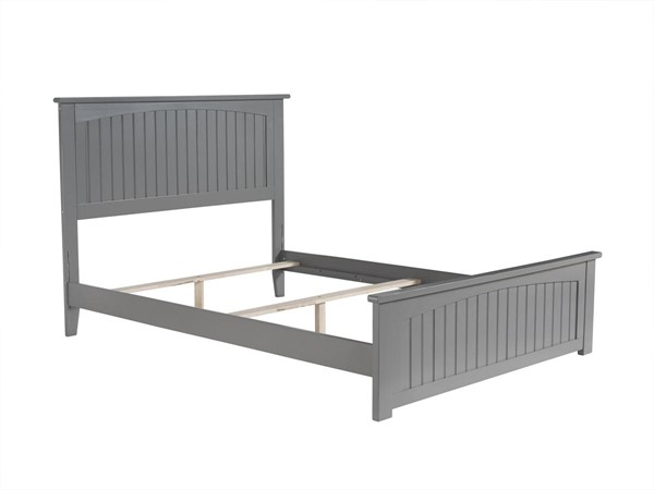 Atlantic Furniture Nantucket Grey Full Traditional Bed with Matching Footboard AR8236039