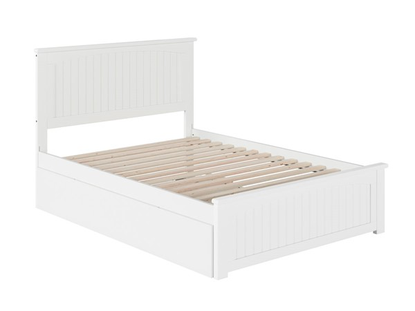 Atlantic Furniture Nantucket White Full Urban Trundle Bed with Matching Foot Board AR8236052