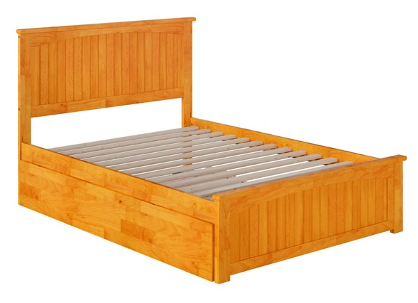 Atlantic Furniture Nantucket Caramel Full Urban Trundle Bed with Matching Foot Board AR8236057