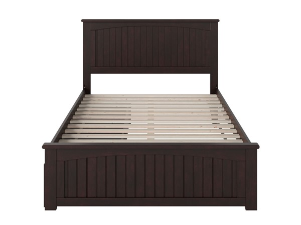 Atlantic Furniture Nantucket Espresso 2 Urban Drawers Full Bed with Matching Foot Board AR8236111