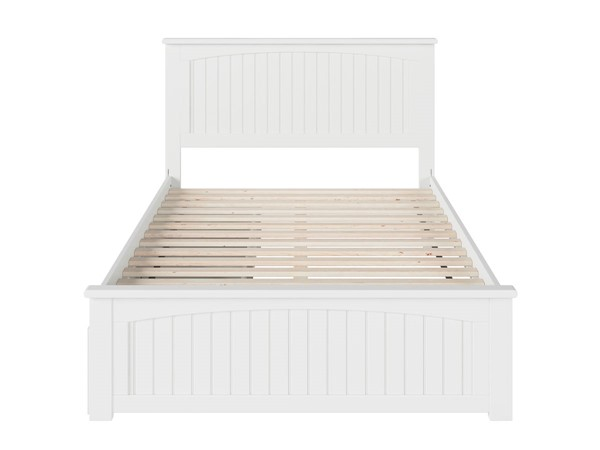 Atlantic Furniture Nantucket White 2 Urban Drawers Full Bed with Matching Foot Board AR8236112