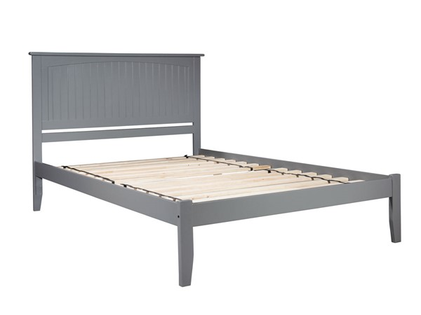 Atlantic Furniture Nantucket Grey King Platform Bed with Open Foot Board AR8251009