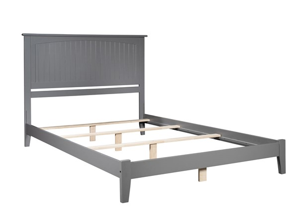 Atlantic Furniture Nantucket Grey Traditional King Platform Bed AR8251039