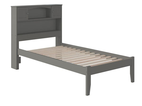 Atlantic Furniture Newport Grey Twin Platform Bed with Open Foot Board AR8521009