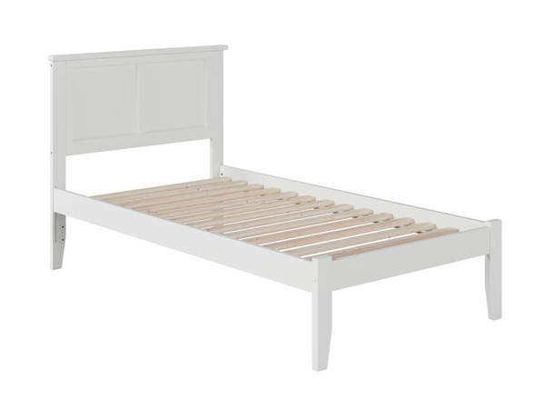 Atlantic Furniture Madison White Open Foot Board Twin XL Platform Bed AR8611002