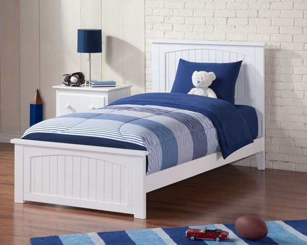 Atlantic Furniture Madison White Matching Footboard Twin XL Bed AR8616032