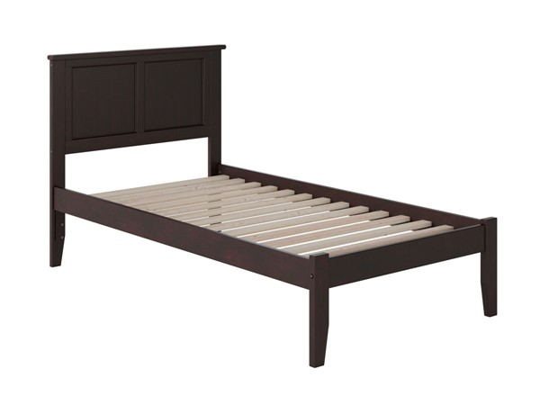 Atlantic Furniture Madison Espresso Open Foot Board Twin Platform Bed AR8621001