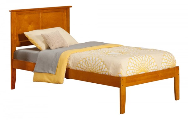 Madison Caramel Latte Wood Twin Platform Open Foot Bed AR8621007