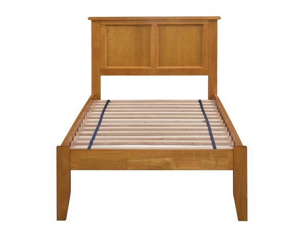 Atlantic Furniture Madison Caramel Latte Twin Bed with Open Foot Rail AR8621007
