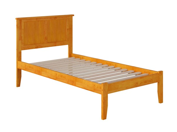 Atlantic Furniture Madison Caramel Open Foot Board Twin Platform Bed AR8621007