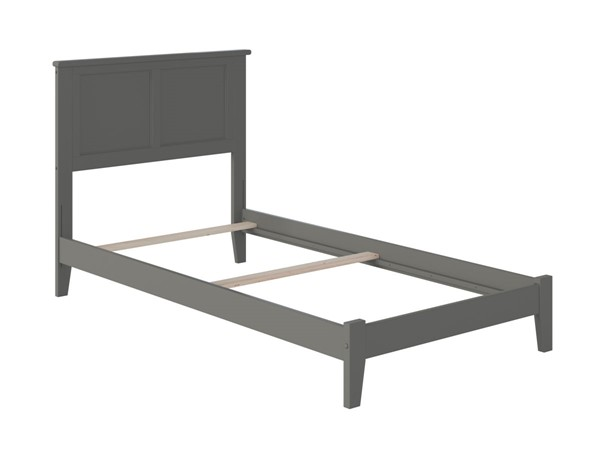 Atlantic Furniture Madison Grey Traditional Twin Bed AR8621039