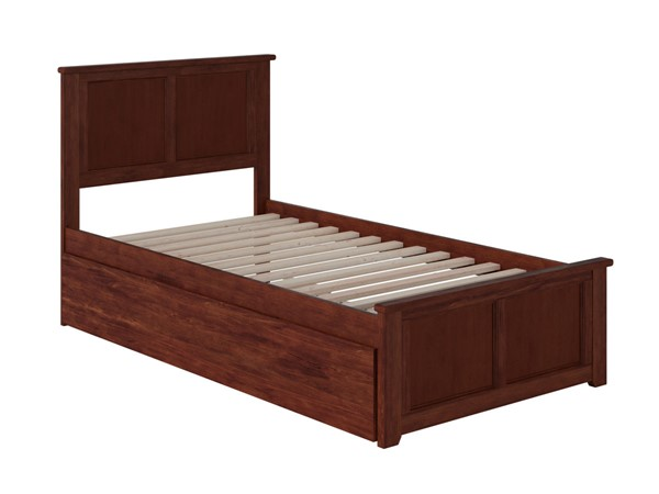 Atlantic Furniture Madison Walnut Twin Bed with Matching Foot Board and Twin Urban Trundle AR8626014