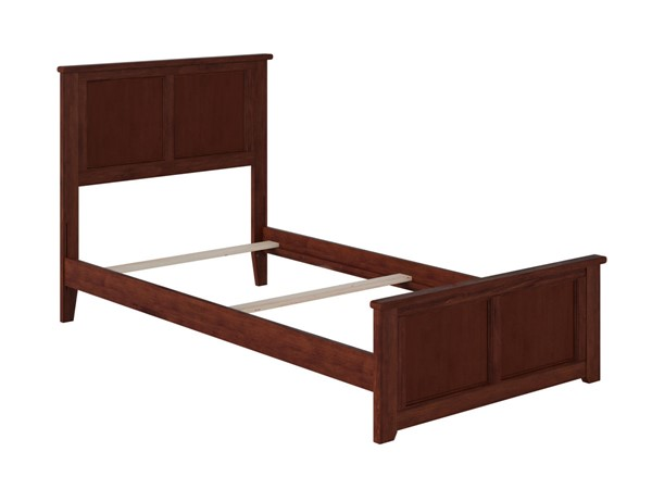 Atlantic Furniture Madison Walnut Twin Bed with Matching Foot Board AR8626034