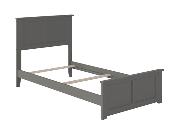 Atlantic Furniture Madison Grey Twin Bed with Matching Foot Board AR8626039
