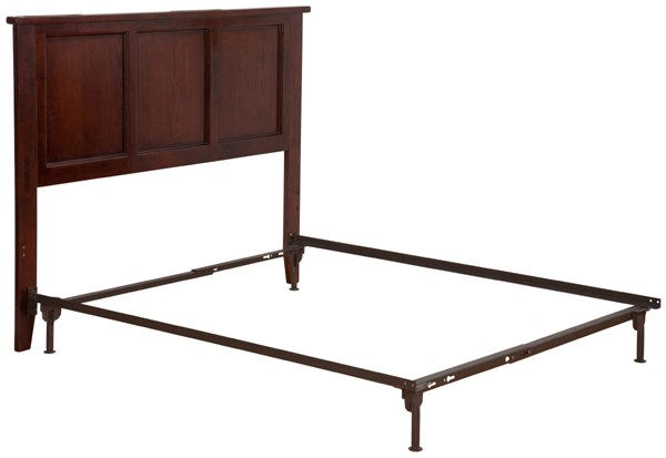 Atlantic Furniture Madison Antique Walnut Full Headboard with Metal Bed Frame AR8630104