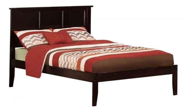 Madison Traditional Espresso Wood Full Open Foot Rail Platform Bed AR8631031