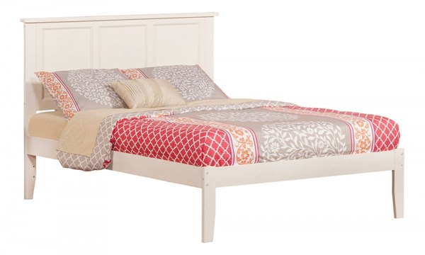 Madison Traditional White Wood Full Open Foot Rail Platform Bed AR8631032