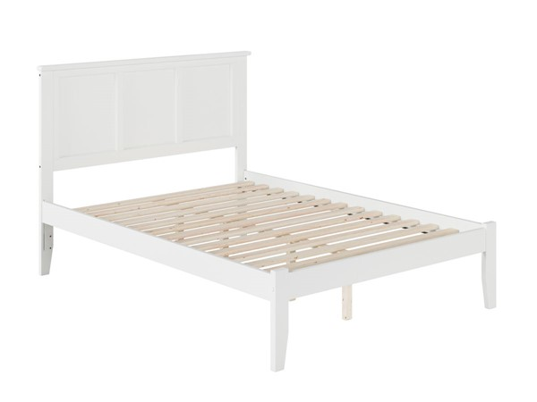 Atlantic Furniture Madison White Open Foot Board Full Platform Bed AR8631002