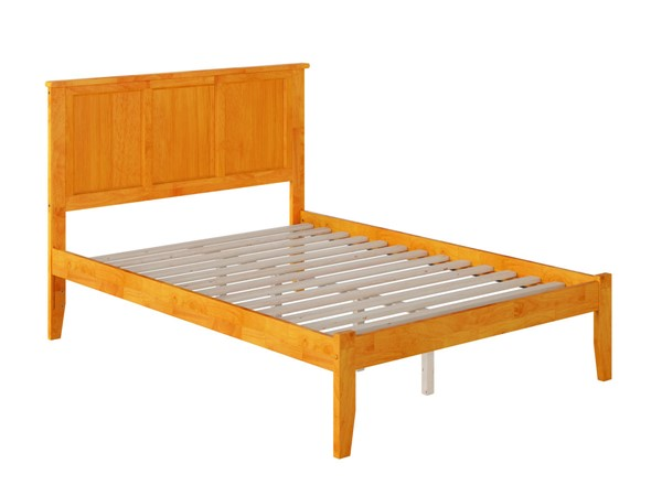 Atlantic Furniture Madison Caramel Open Foot Board Full Platform Bed AR8631007