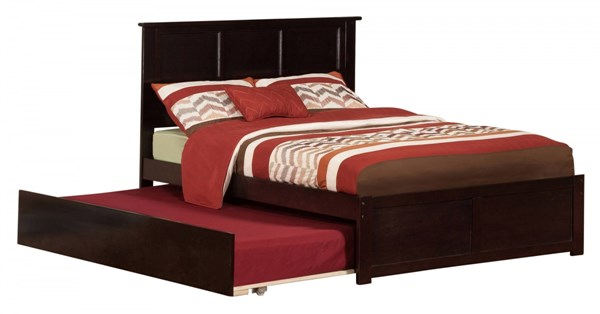 Atlantic Furniture Madison Espresso Flat Panel Footboard Full Urban Trundle Bed AR8632011