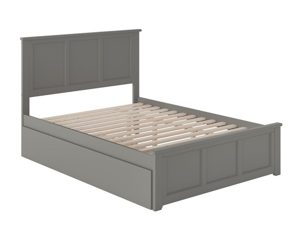 Atlantic Furniture Madison Grey Full Bed with Matching Foot Board and Twin Urban Trundle AR8636019