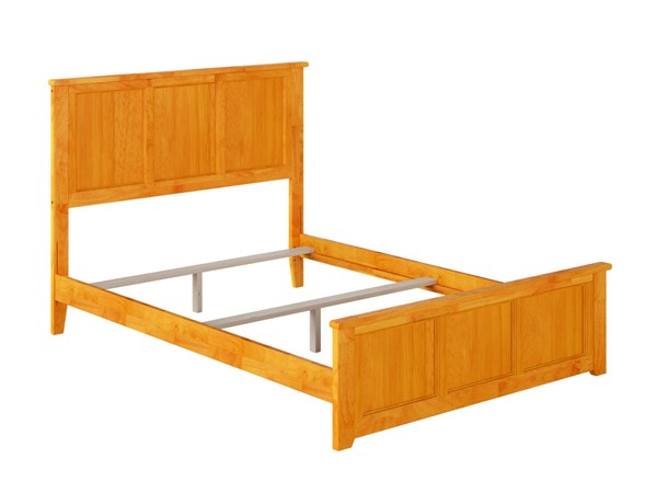 Atlantic Furniture Madison Caramel Full Bed with Matching Foot Board AR8636037