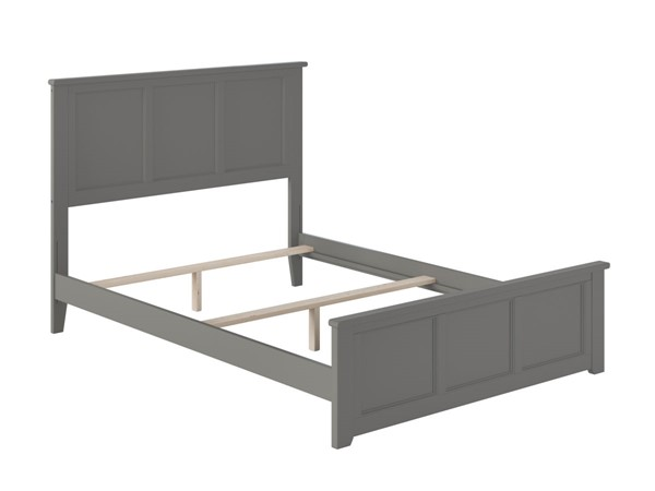 Atlantic Furniture Madison Grey Full Bed with Matching Foot Board AR8636039