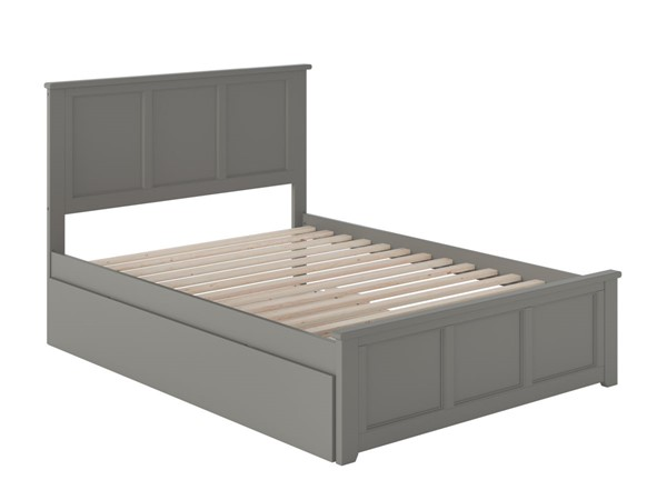 Atlantic Furniture Madison Grey Full Bed with Matching Foot Board and Full Urban Trundle AR8636059