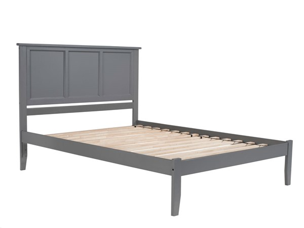 Atlantic Furniture Madison Grey Open Foot Board Queen Platform Bed AR8641009