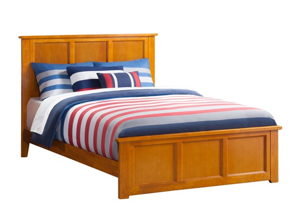 Atlantic Furniture Madison Caramel Queen Bed with Matching Foot Board AR8646037