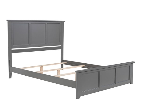 Atlantic Furniture Madison Grey Queen Bed with Matching Foot Board AR8646039