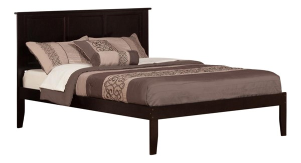Atlantic Furniture Madison Espresso Open Foot Board King Platform Bed AR8651001