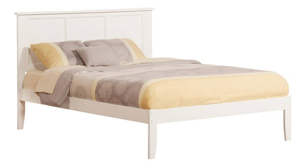 Madison Traditional White Wood Open Foot King Bed AR8651002