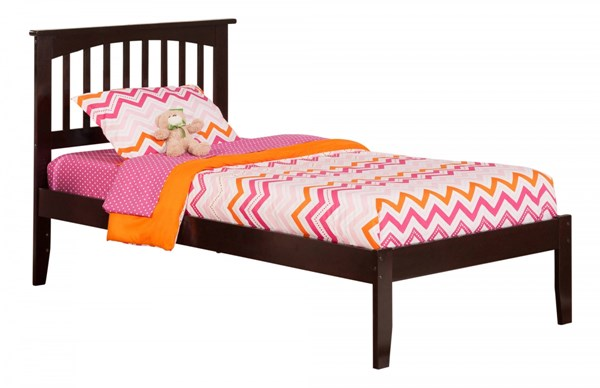 Mission Traditional Wood Open Foot Rail Platform Beds AR87-BEDS