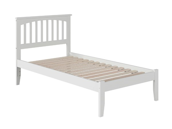 Atlantic Furniture Mission White Twin XL Bed with Open Foot Rail AR8711002