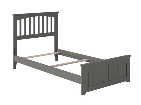 Atlantic Furniture Mission Grey Matching Foot Board Twin XL Panel Bed AR8716039