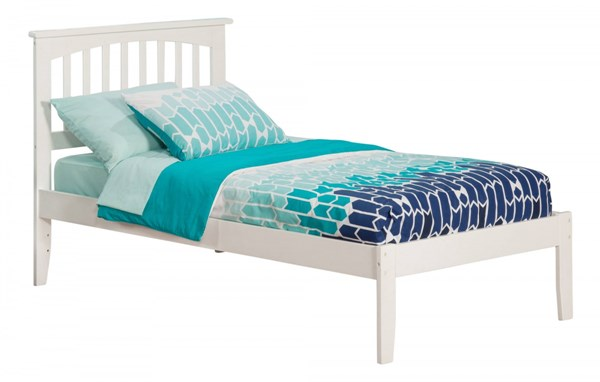 Mission White Wood Twin Platform Open Foot Bed AR8721002