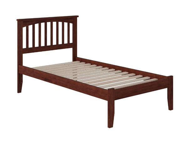Atlantic Furniture Mission Walnut Twin Bed with Open Foot Rail AR8721004