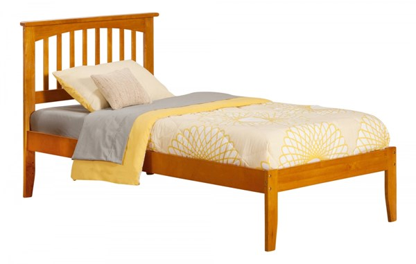 Mission Traditional Caramel Latte Twin Open Foot Rail Platform Bed AR8721037
