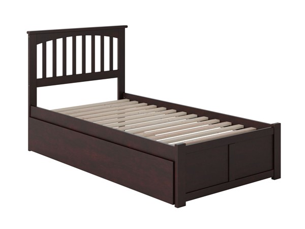 Atlantic Furniture Mission Espresso Flat Panel Footboard and Urban Trundle Twin Bed AR8722011