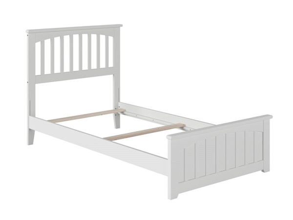 Atlantic Furniture Mission White Matching Foot Board Twin Panel Bed AR8726032